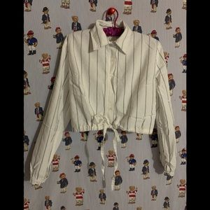🌹🥰White striped blouse by John galt/brand